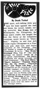 Doc Evans Studs Terkel review